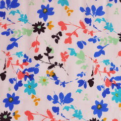 Floral Vine Rayon Challis Blush/Multi - Sold Out - Style Maker Fabrics