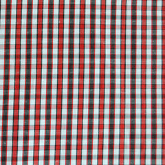 Plaid Check Shirting Red/Black SY - Selvage Yard - Style Maker Fabrics
