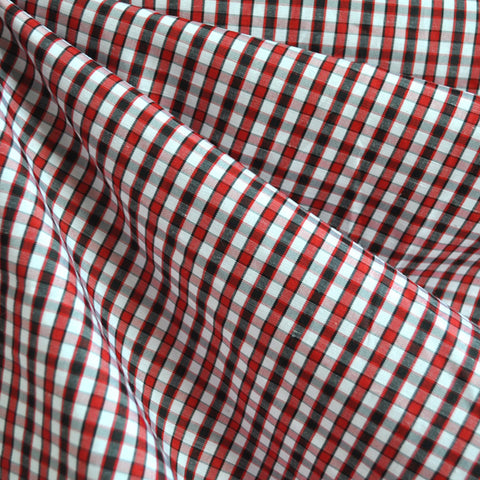 Plaid Check Shirting Red/Black