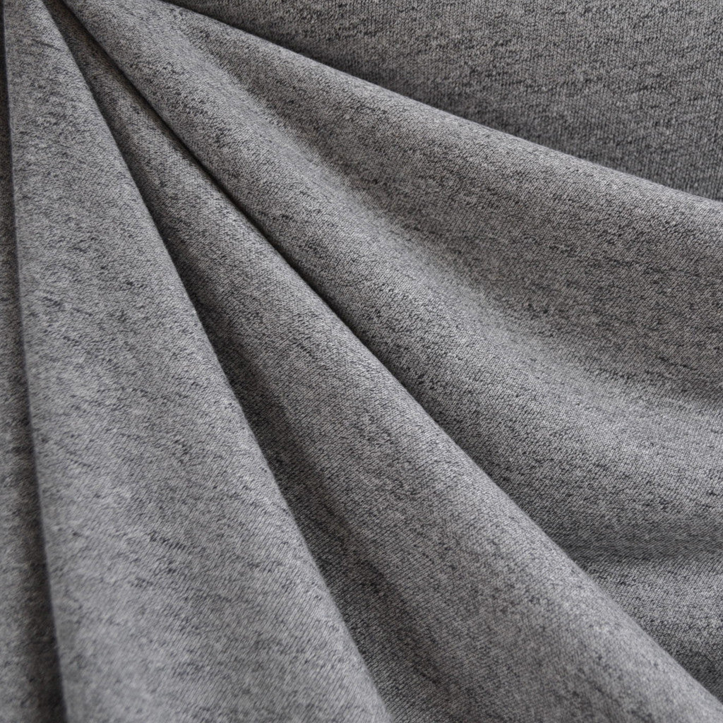 French Terry Heather Grey - Sold Out - Style Maker Fabrics
