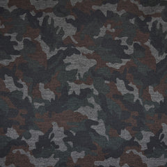 Camo Print Ponte Knit Black/Olive - Sold Out - Style Maker Fabrics