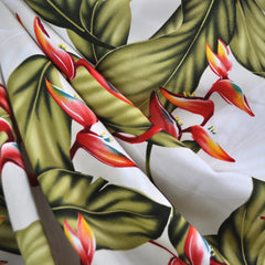 Tropical Floral Rayon Shirting Cream/Multi - Sold Out - Style Maker Fabrics