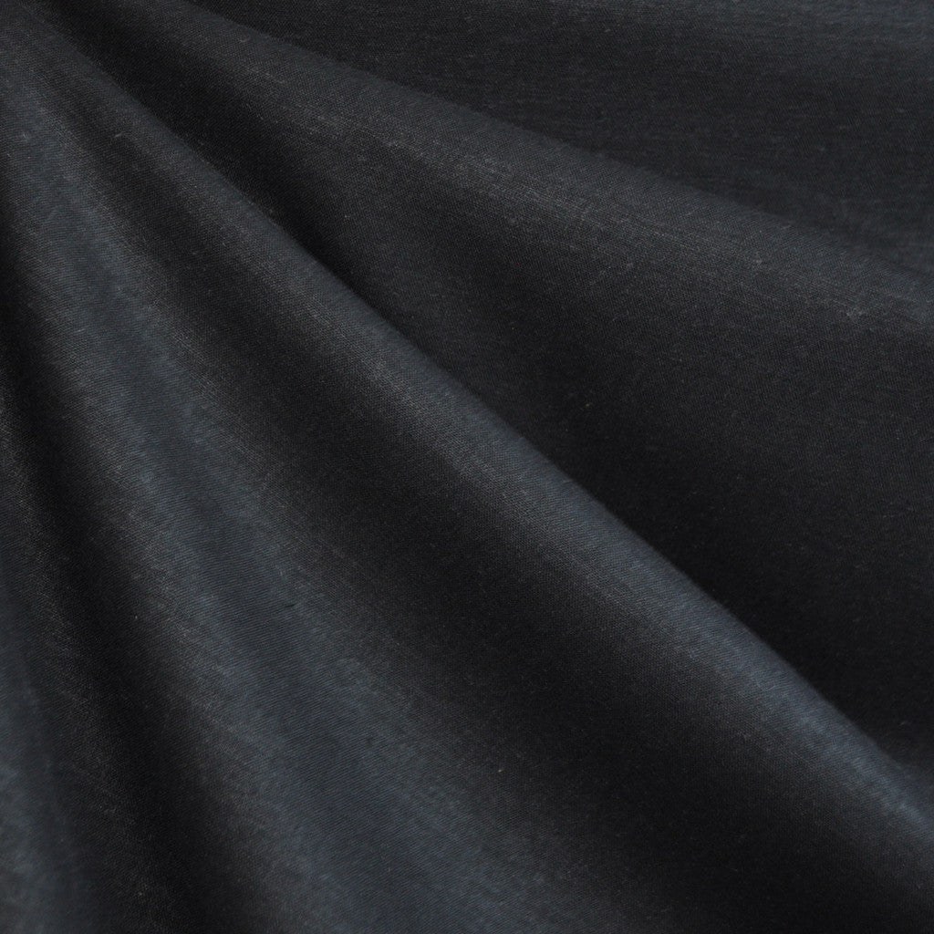 Linen Blend Shirting Black SY - Sold Out - Style Maker Fabrics