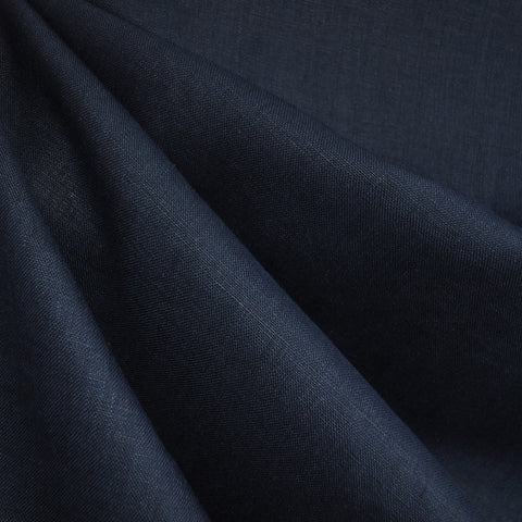 Textured Linen Solid Navy