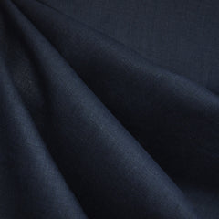 Textured Linen Solid Navy - Fabric - Style Maker Fabrics