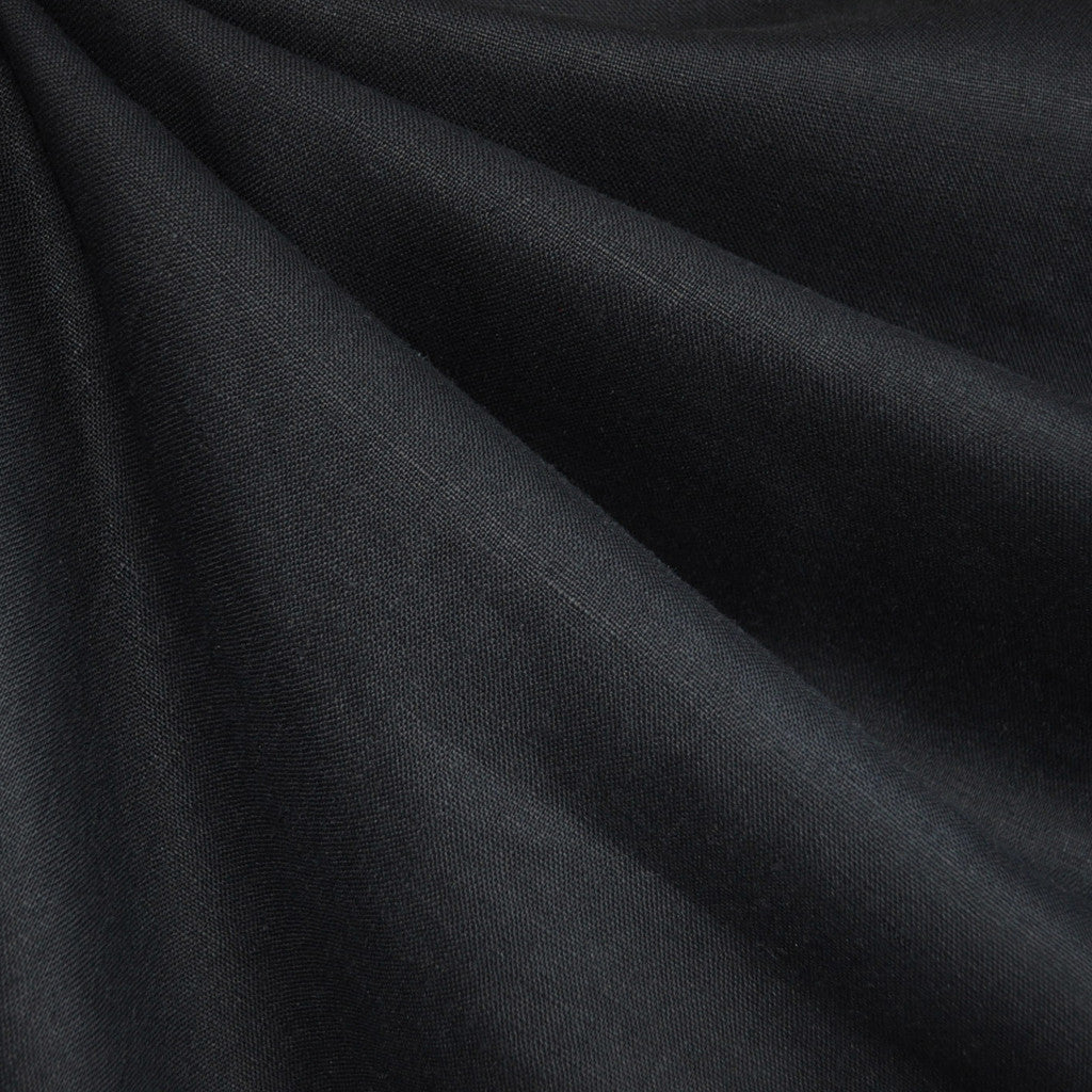 Textured Linen Solid Black - Sold Out - Style Maker Fabrics