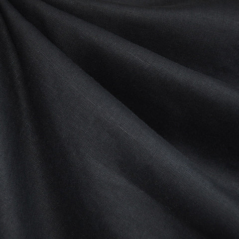 Textured Linen Solid Black