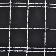 Windowpane Stretch Sateen Black/White SY - Sold Out - Style Maker Fabrics