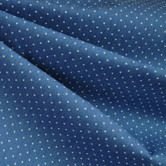 Denim Stretch Shirting Dot Blue - Fabric - Style Maker Fabrics