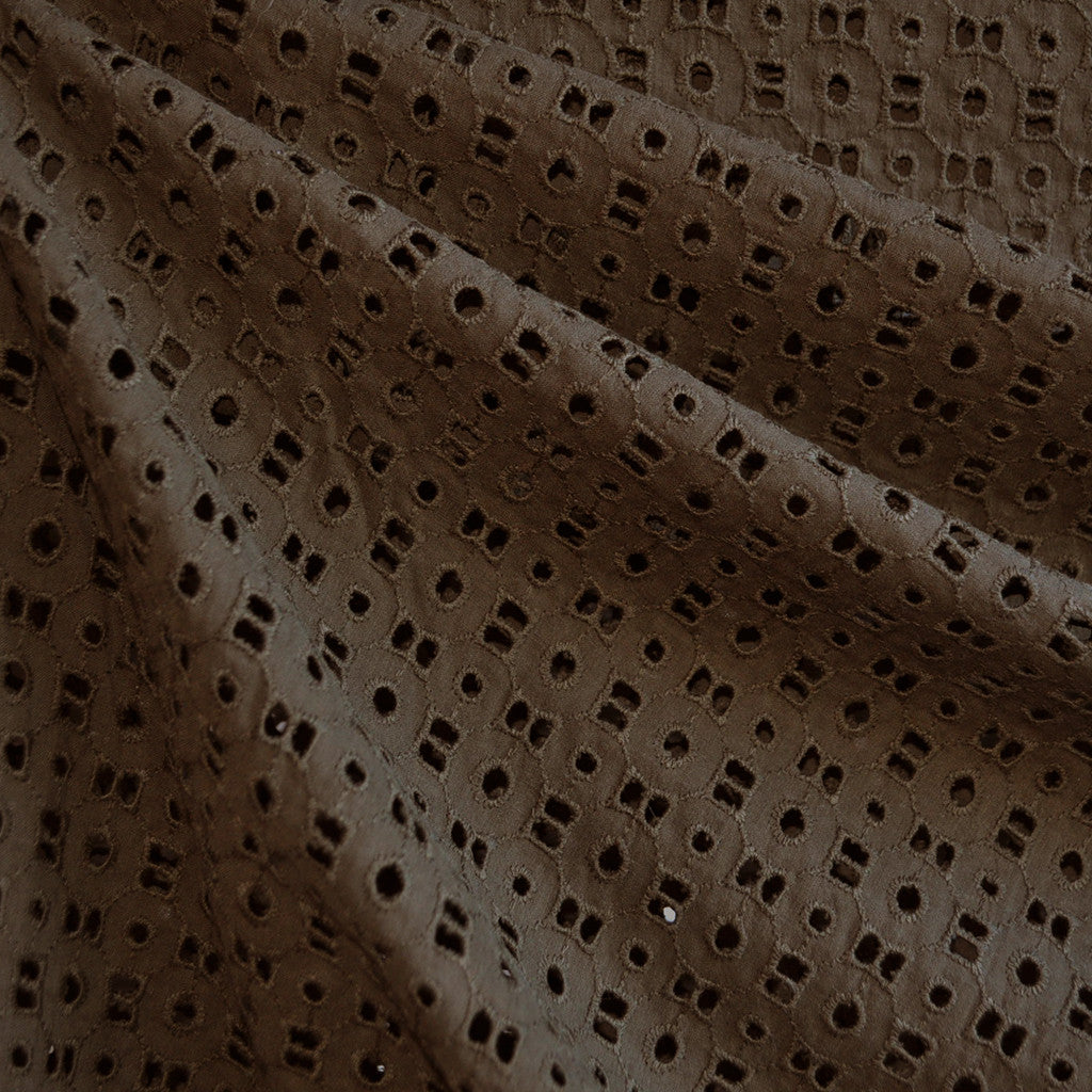 Cotton Eyelet Shirting Army Green SY - Sold Out - Style Maker Fabrics