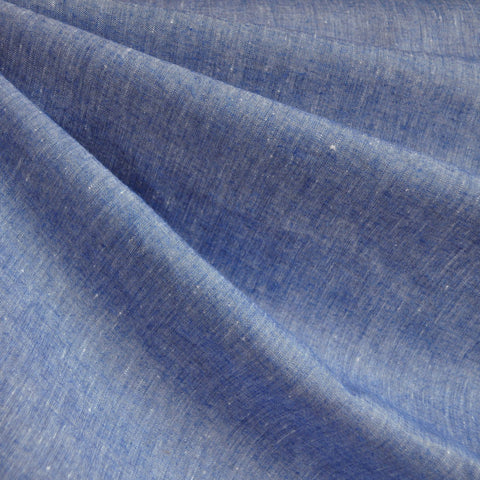 Chambray Linen Blend Shirting Blue