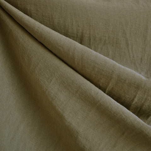 Soft Rayon Twill Solid Olive