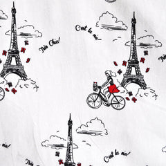 BedHead Paris Bicycle White/Black - Sold Out - Style Maker Fabrics