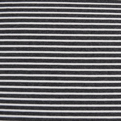 Pencil Stripe Jersey Knit Charcoal/White SY - Sold Out - Style Maker Fabrics