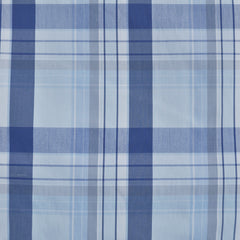 Large Plaid Stretch Shirting Blue SY - Selvage Yard - Style Maker Fabrics