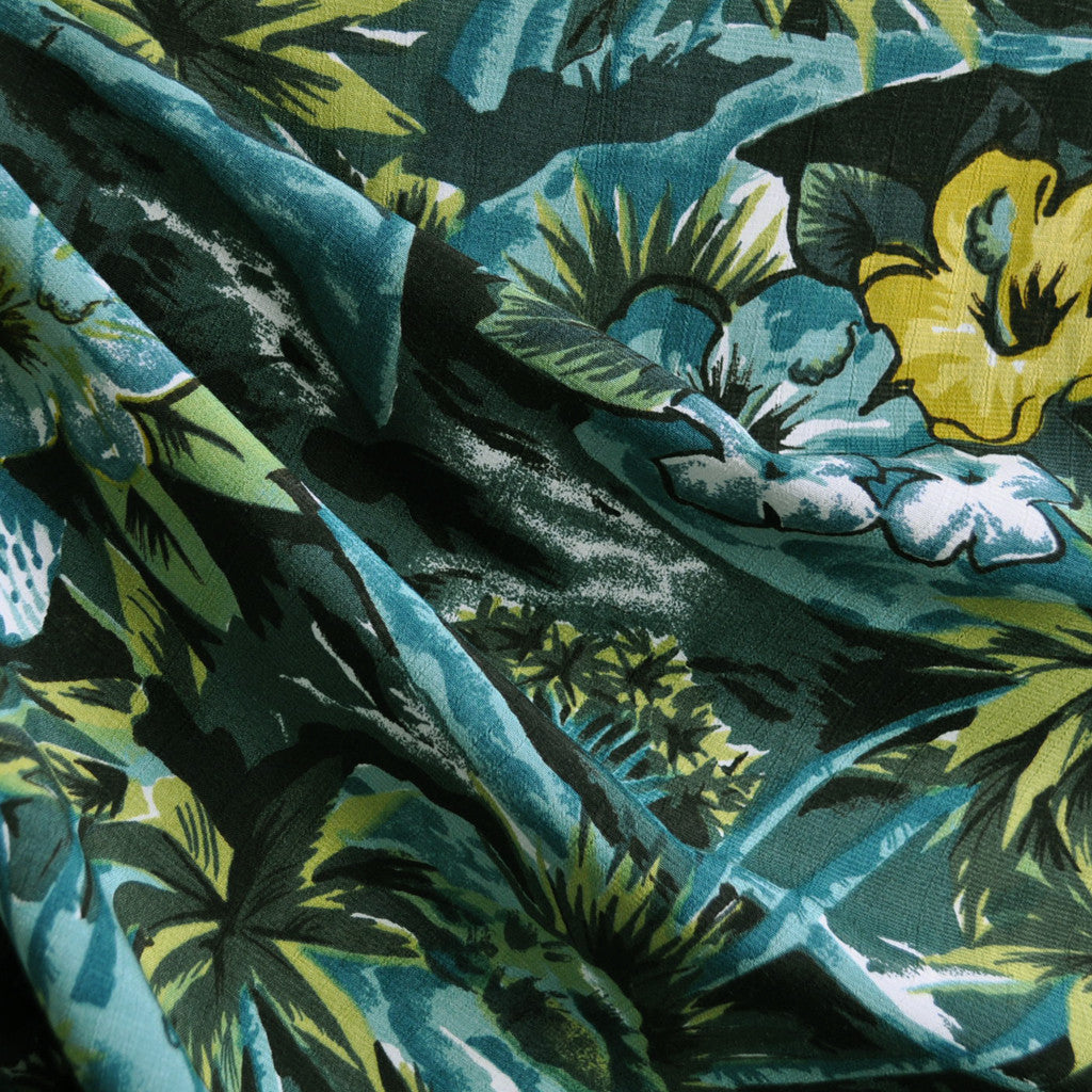 Tropical Oasis Rayon Crepe Greenery SY - Sold Out - Style Maker Fabrics