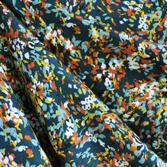 Confetti Print Rayon Challis Teal/Multi - Sold Out - Style Maker Fabrics