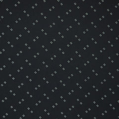 Clover Dot Rayon Crepe Black/Creme - Sold Out - Style Maker Fabrics