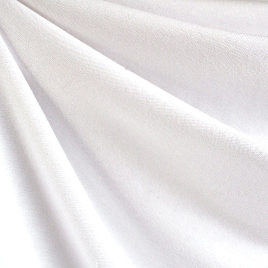 French Terry Solid White SY - Sold Out - Style Maker Fabrics