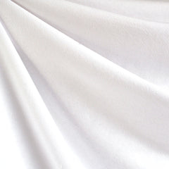 French Terry Solid White - Sold Out - Style Maker Fabrics