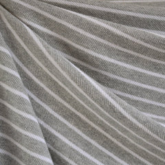 French Terry Pencil Stripe Grey/Vanilla - Sold Out - Style Maker Fabrics