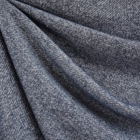 French Terry Solid Heather Indigo