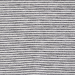 French Terry Mini Stripe Grey/White - Sold Out - Style Maker Fabrics