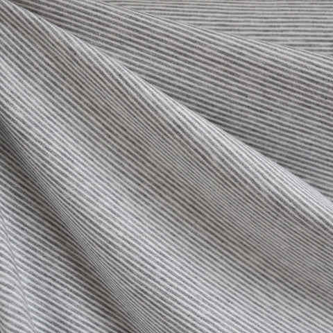 French Terry Mini Stripe Grey/White