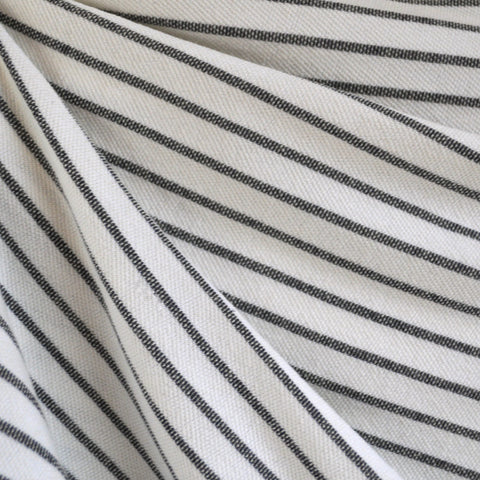 French Terry Pencil Stripe Vanilla/Indigo SY