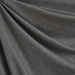 French Terry Solid Charcoal Heather SY - Sold Out - Style Maker Fabrics