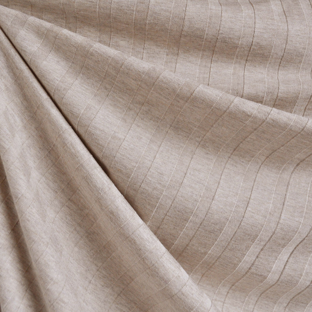 d8c0a3abb1a Stripe Texture Jersey Knit Oatmeal - Sold Out - Style Maker Fabrics ...