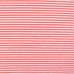 Mini Stripe Jersey Knit Coral/White - Sold Out - Style Maker Fabrics