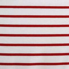 Jersey Knit Wide Stripe Vanilla/Red - Sold Out - Style Maker Fabrics