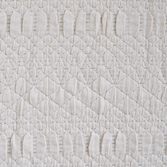 Quilt Stitch Texture Double Knit Cream/Silver - Sold Out - Style Maker Fabrics