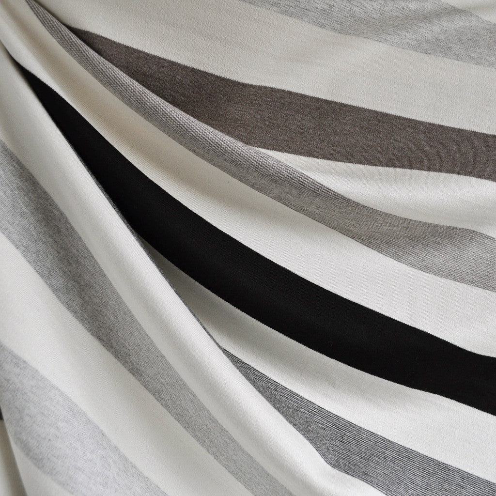 Wide Multi Stripe Ponte Knit Neutrals - Sold Out - Style Maker Fabrics