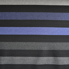 Wide Multi Stripe Ponte Knit Blues SY - Sold Out - Style Maker Fabrics