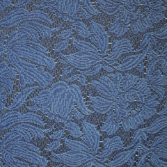 Lace Overlay Stretch Denim Indigo/Blue - Sold Out - Style Maker Fabrics