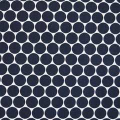 Polka Dot Stretch Twill Navy/Wht SY - Sold Out - Style Maker Fabrics