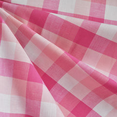 Large Plaid Check Shirting Pink/White SY - Sold Out - Style Maker Fabrics