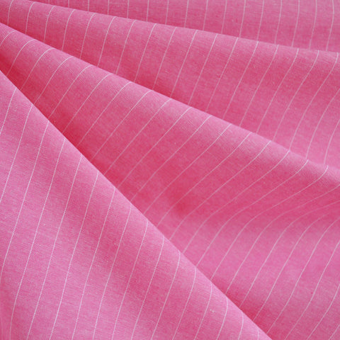 Oxford Shirting Pin Stripe Pink