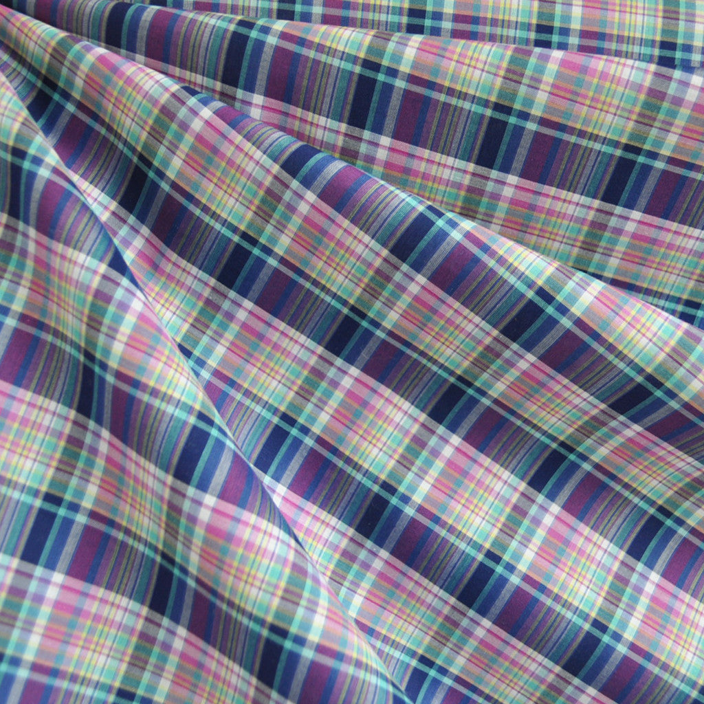 Tiny Plaid Shirting Jewel Tones SY - Sold Out - Style Maker Fabrics
