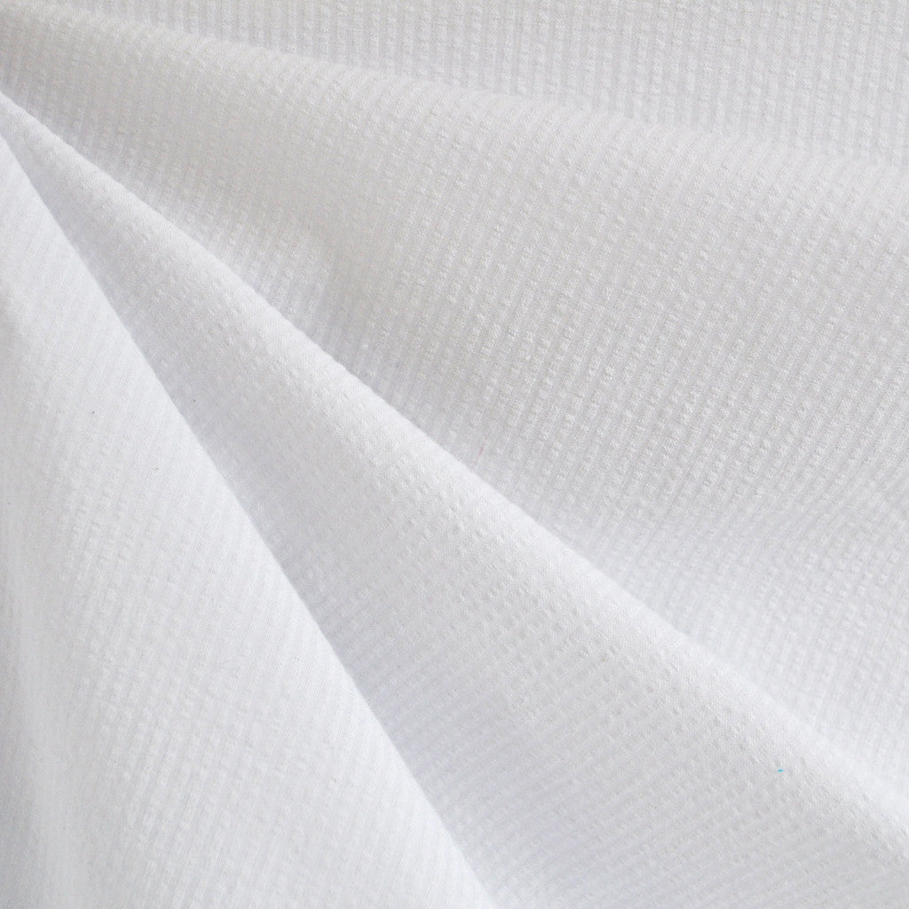 Seersucker Stripe Shirting White - Sold Out - Style Maker Fabrics
