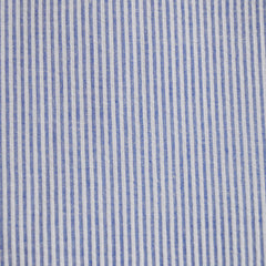 Seersucker Stripe Shirting Blue - Fabric - Style Maker Fabrics