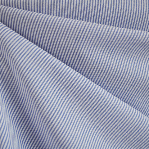 Seersucker Stripe Shirting Blue