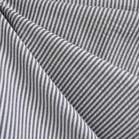 Seersucker Stripe Shirting Charcoal SY