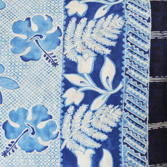 Vintage Double Border Tropical Print Rayon Challis Blue - Sold Out - Style Maker Fabrics