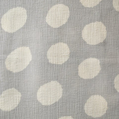 Japanese Crepe Double Gauze Dot Grey/Cream SY - Sold Out - Style Maker Fabrics
