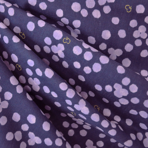 Japanese Double Gauze Scattered Dot Navy