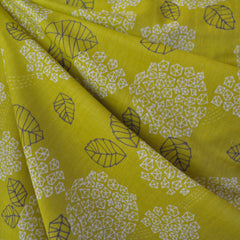 Japanese Double Gauze Modern Floral Citron - Sold Out - Style Maker Fabrics