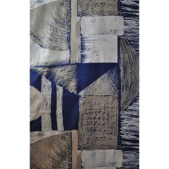 Japanese Abstract Cotton Twill Shirting Navy - Sold Out - Style Maker Fabrics
